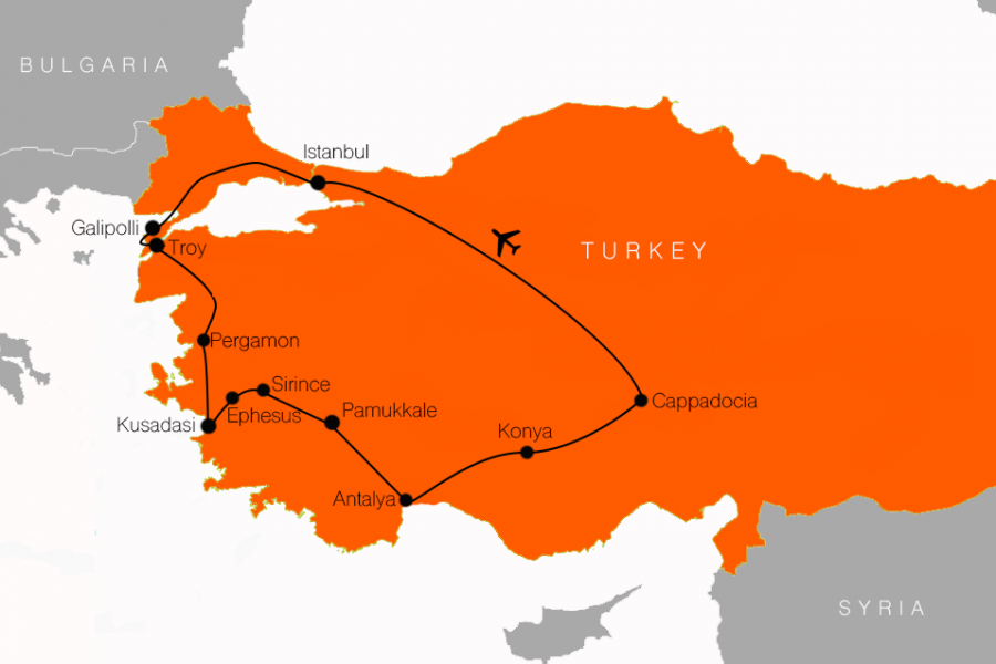 Turkey tour package with flights